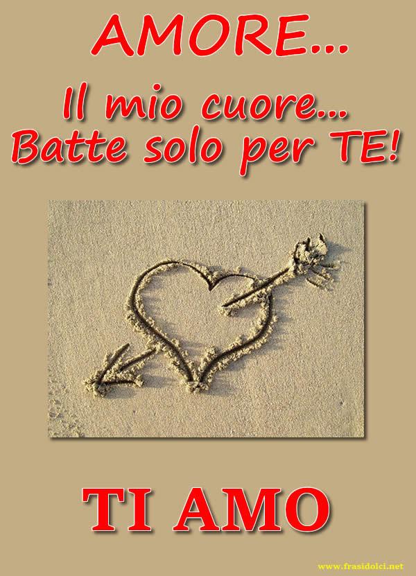 Ti Amo Frasi Con Cuore Con Freccia E Frase D Amore